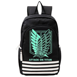 Attack On Titan : Wings Of Freedom Luminous Backpack Black-Fandomsky