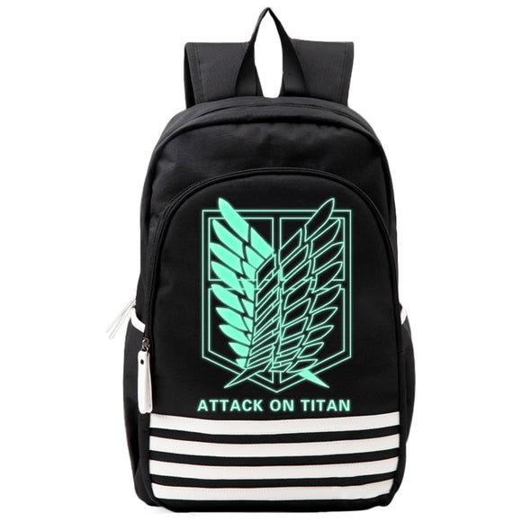 Attack On Titan : Wings Of Freedom  Luminous Backpack Black
