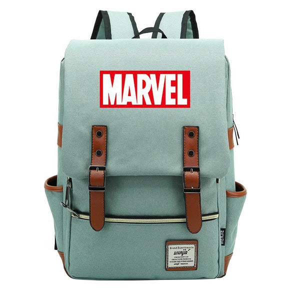 Kids 16 Inch MARVEL Logo Leisure Daily Backpack Travel Student Teenager School Bag