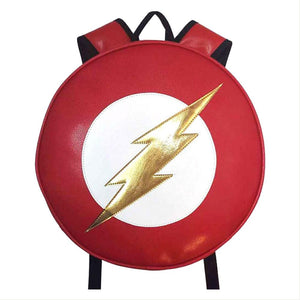 DC The Flash PU Leather Round Backpack-Fandomsky