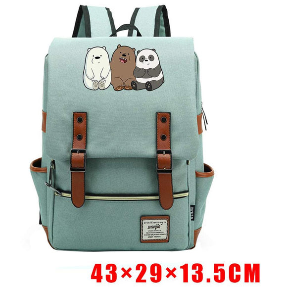 We Bare Bears Backpack Blue Pink Teenager