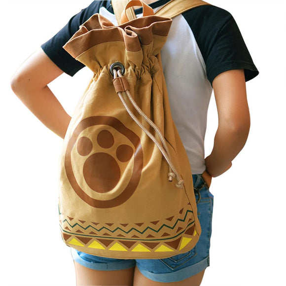 Game Monster Hunter Airou Airu Cat Backpack Cosplay Gift-Fandomsky