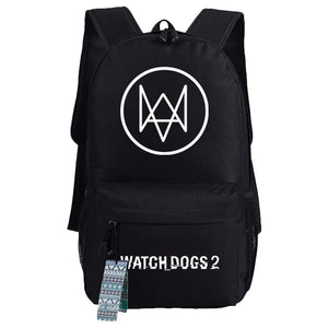 Game Watch Dogs 2 Oxford Fabric Backpack Travel-Fandomsky