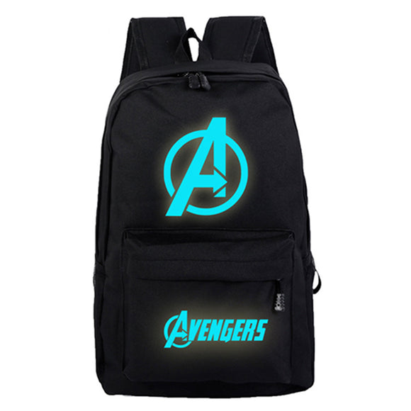 Marvel Avengers Backpack Starry Blue Bag Night Light Package 2 Styles