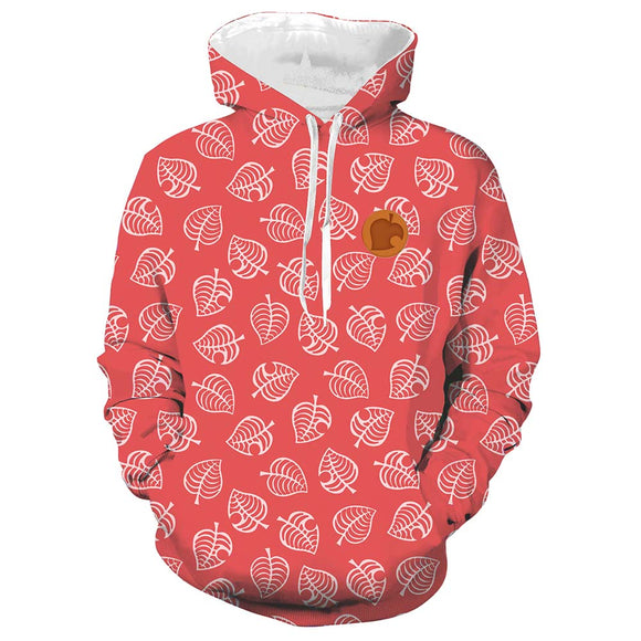 Unisex Isabelle Cosplay Hoodies Animal Crossing Pullover 3D Print Jacket Sweatshirt