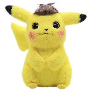 2019 Pokemon Detective Pikachu Authentic Cute Pikachu Plush Doll  Kawaii Toys for Children 11""