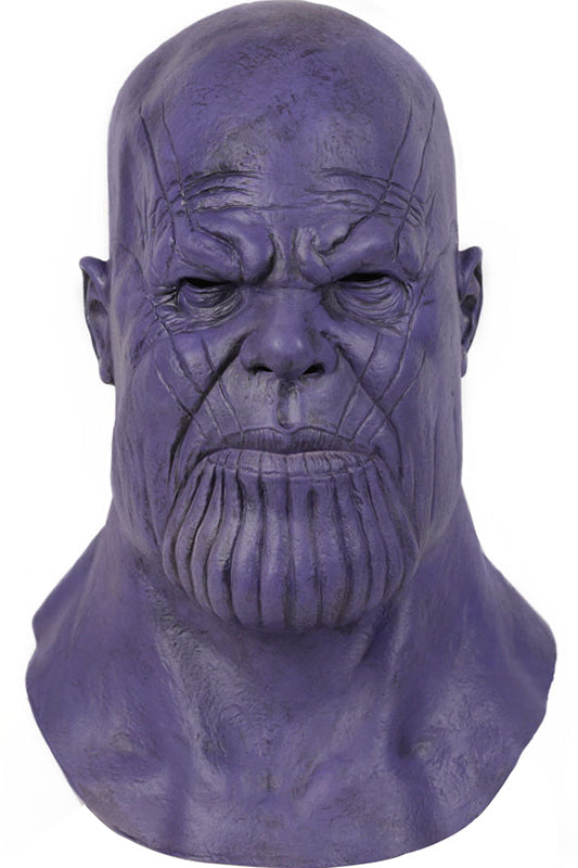 The Avengers Thanos Halloween Masks Cosplay Party Full Head Mask Latex Helmet for Halloween Costume Purple-Fandomsky