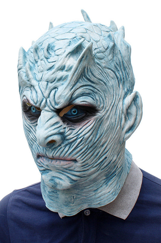 Game of Thrones Night King Halloween  Mask Scary Halloween Costume Mask Cosplay Party sMask Head Mask Men
