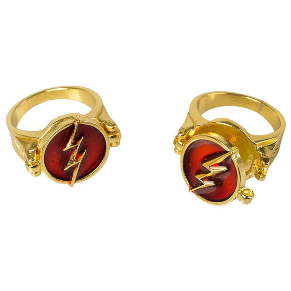 The Flash Ring Red and Gold Mixed Ring Made of Zinc Alloy Free to Open it Up