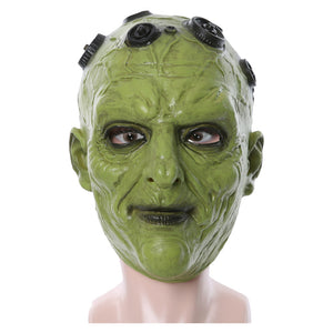 Krypton Brainiac Mask Cosplay Latex Full Face Mask Halloween Cosplay Props-Fandomsky