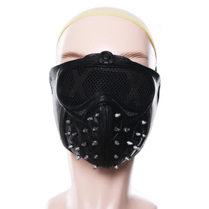 Halloween Vedio Game Cosplay LED Mask Masquerade Death Masks Watch Dogs Rivet Party Face Masks
