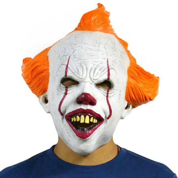 IT Pennywise Halloween Clown Mask 2019 Stephen King Movie Adult Horror Joker Full Face Costume Party Prop