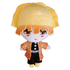 Anime Demon Slayer: Kimetsu no Yaiba Cute Doll Plush Q Version Agatsuma Zenitsu Toy Fans Gift
