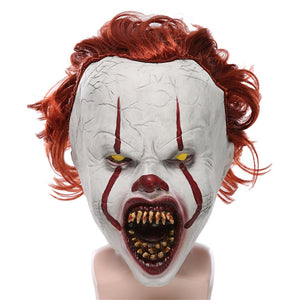 Halloween Horror Pennywise Joker Mask Cosplay Stephen King It Chapter Two Clown Latex Masks Helmet