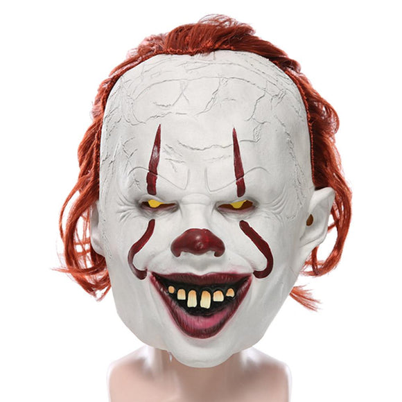 Stephen King's It: Chapter Two Pennywise Mask Joker Clown Cosplay Halloween Latex Masks