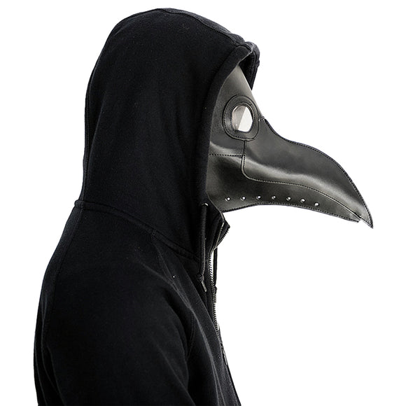Plague Doctor Mask Long Nose Bird Beak Steampunk Halloween Costume Mask-Fandomsky