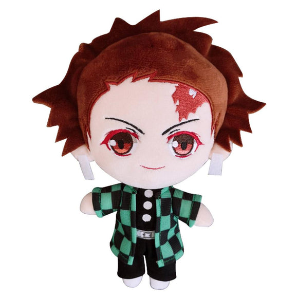 Anime Demon Slayer: Kimetsu no Yaiba Cute Doll Plush Q Version Kamado Tanjirou Toy Fans Gift