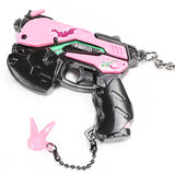 Overwatch D.Va Key Chain Ring Weapon Charm Pendent Cosplay Costume Accessories Props for Game Fans-Fandomsky