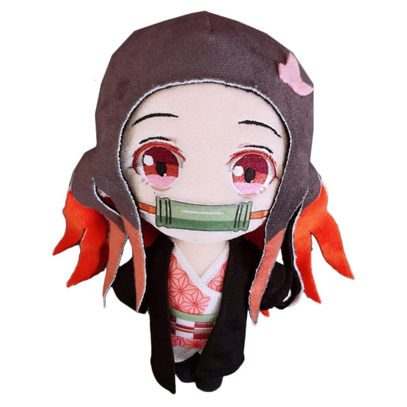 Anime Demon Slayer: Kimetsu no Yaiba Cute Doll Plush Q Version Kamado Nezuko Toy Fans Gift