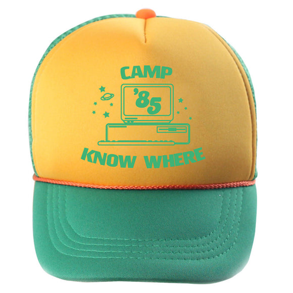 Stranger Things Dustin Cosplay Hat Retro Mesh Snapback Cap 85 Know Where Adjustable Cap-Fandomsky