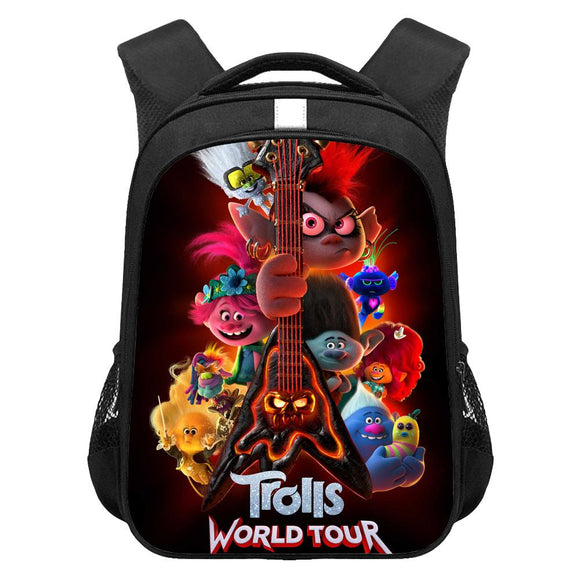 Kids Trolls World Tour Lightweight Backpack Students Laptop Bag Boys Girls Back to School Gift