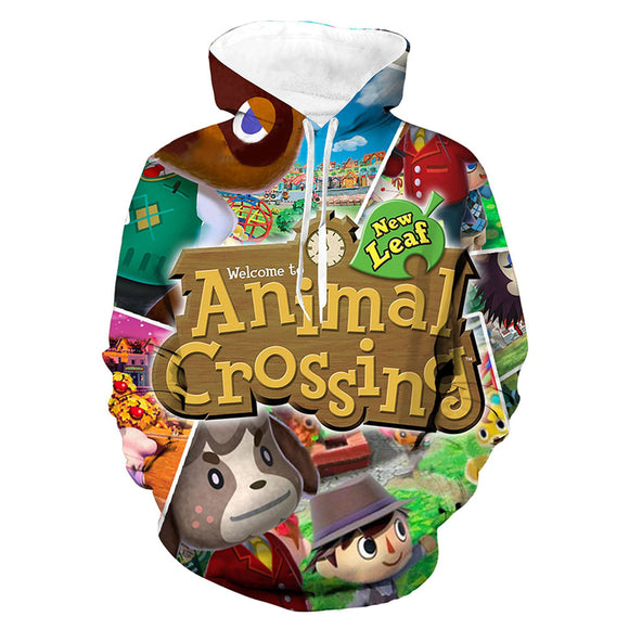 Unisex Animal Crossing Hoodie 3D Printed Men Women Casual Hooded Sweatshirts Pullover Streetwear