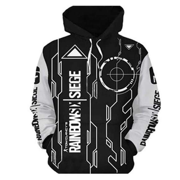 Unisex Rainbow Six Hoodies Teens Novelty Hooded Sweatshirts Spring Pullover Outerwear Sportswear