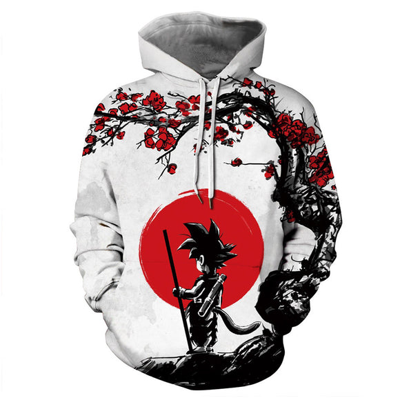 Unisex Dragon Ball Hoodies Teens Novelty Hooded Sweatshirts Spring Pullover Outerwear Sportswear