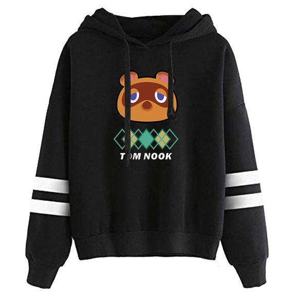 Unisex Animal Crossing Cosplay Hoodie Tom Nook Printed Pullover Hooded Sweatshirt