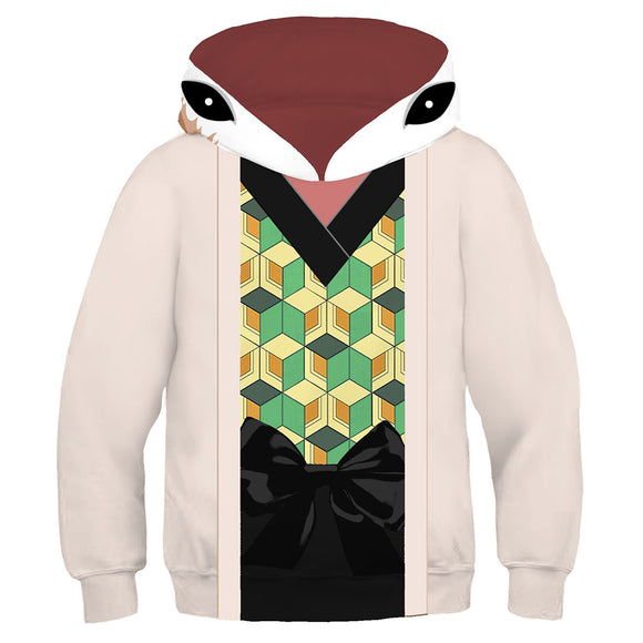 Kids Sabito Hoodies Demon Slayer: Kimetsu no Yaiba Pullover 3D Print Jacket Sweatshirt
