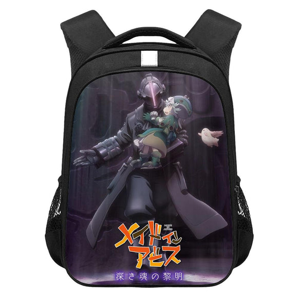Kids Made in Abyss Movie 3: Fukaki Tamashii no Reimei Lightweight Backpack Students Laptop Bag Boys Girls Back to School Gift