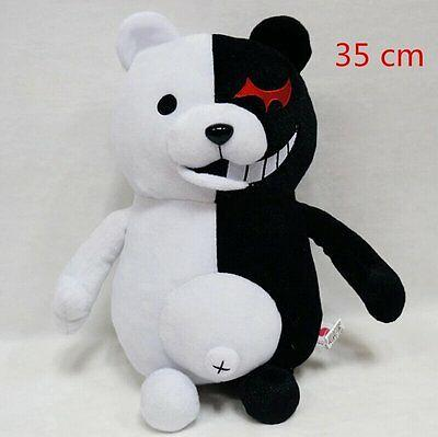 35cm Danganronpa 2 Mono Kuma Black&White Bear Plush Doll Stuffed Bear Toys-Fandomsky