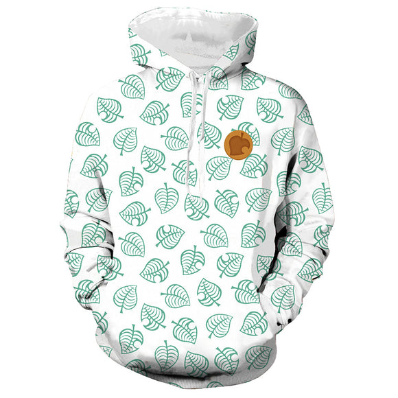 Unisex Tom Nook Hoodies Animal Crossing Pullover 3D Print Jacket Sweatshirt