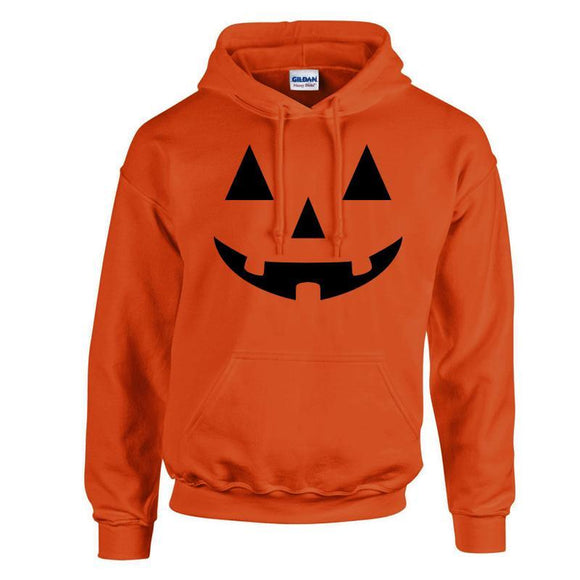 Pumpkin Face Sweatshirt Hoodie Men's Halloween Cosplay Costume-Fandomsky