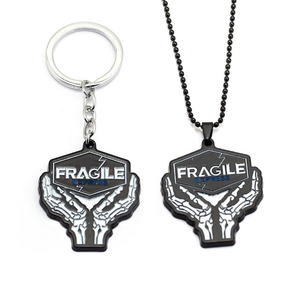 Death Stranding Keychain Metal Fragile Express Necklace Alloy Keyring Pendant