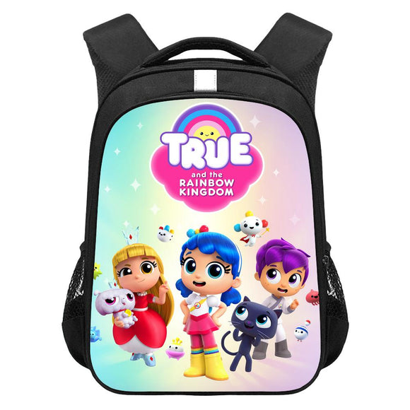 Kids True and the Rainbow Kingdom Lightweight Backpack Students Laptop Bag Boys Girls Back to School Gift