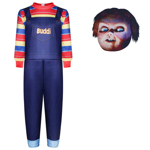 Kids Child's Play Chucky Cosplay Zentai Suit Halloween Costume Children Jumpsuit Bodysuit Outfits