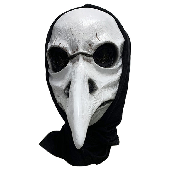 Terror Plague Doctor Mask Cosplay Long Nose Bird Doctor Steampunk Latex Mask Halloween Party Carnival Prop