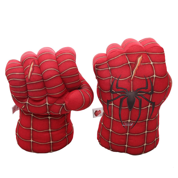 Spider-Man Plush Boxing Gloves Toys Smash Hands Fists Spider-Man Costume Cosplay Gloves