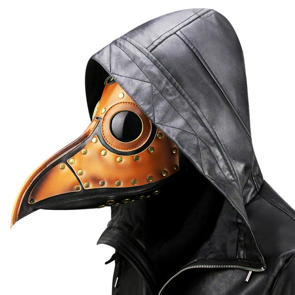Steampunk Plague Doctor Mask Beak Doctor Mask Long Nose Cosplay PU Mask Halloween Party Props