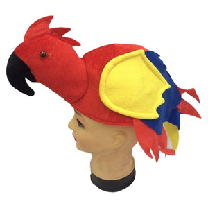 Plush Parrot Hat Party Accessory-Fandomsky