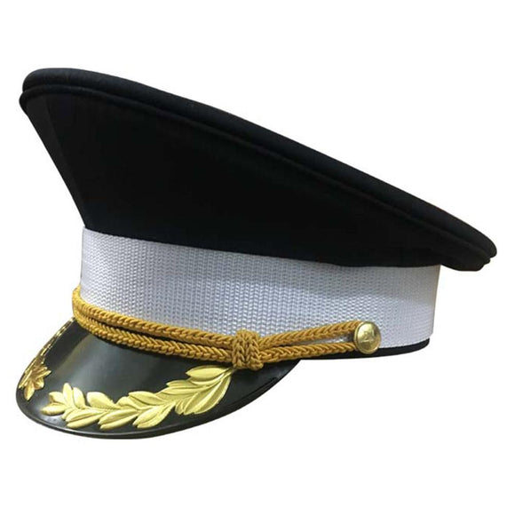 Military Costume Admiral Hats Navy Officer Cap Yacht Captain's Hat Sailor Cap-Fandomsky