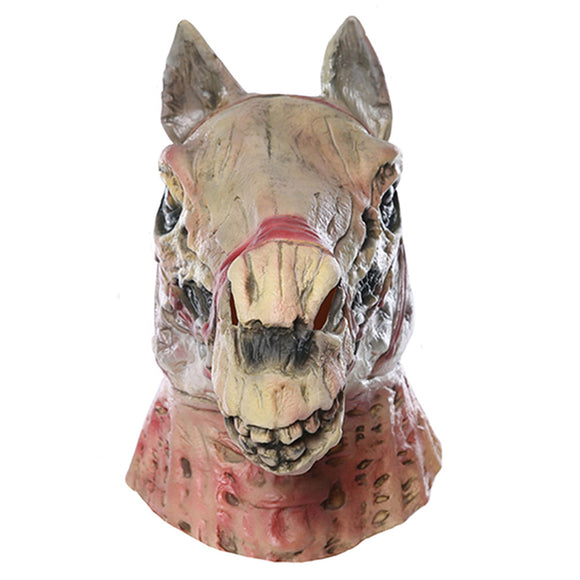Halloween Horror Skull Horse Head Latex Mask Caps