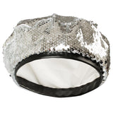 Women Bling Sequins Beret Hats Sparkly Beanies Shining Performance Cap-Fandomsky