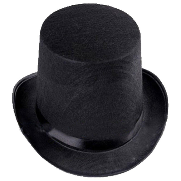 Black Magician Top Hat Steampunk Costume Accessories Dress Up Party Hat-Fandomsky