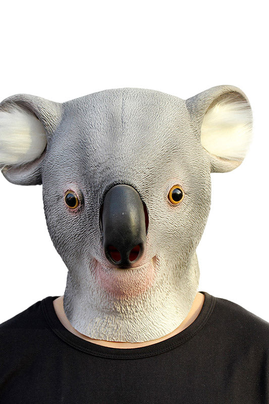 Halloween Costume Party Latex Animal Koala Head Mask for AdultsΧldren