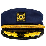Yacht Captain Hat, Boat Sailor Ship Skipper Cap Adult Costume Accessory-Fandomsky