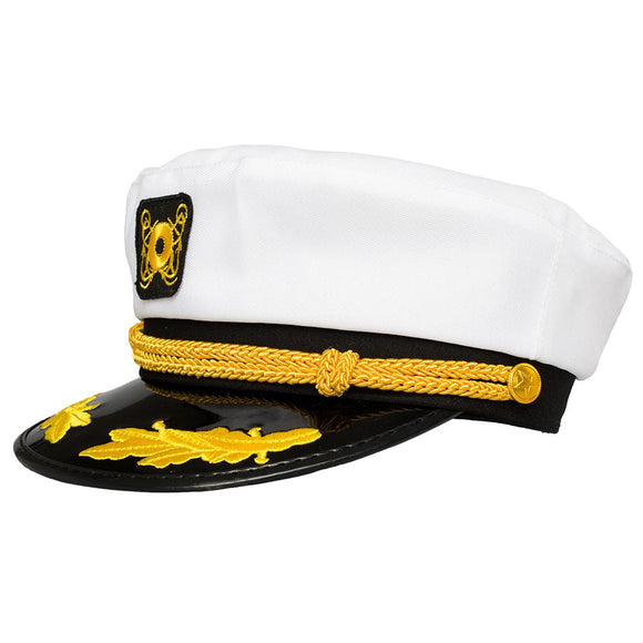 Yacht Captain Hat, Boat Sailor Ship Skipper Cap Adult Costume Accessory