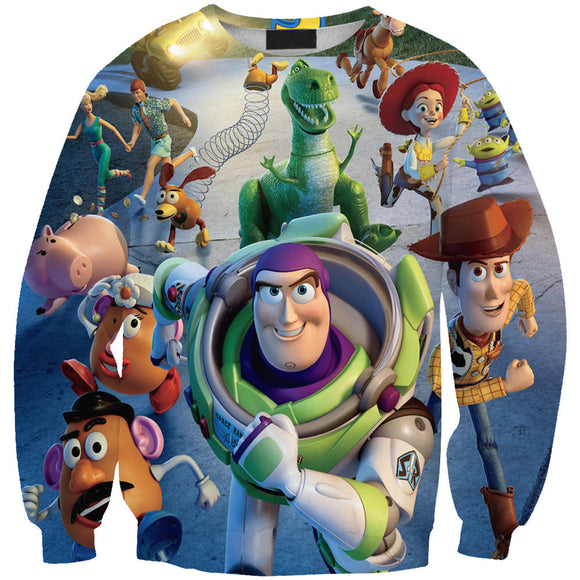 Lover's 3D Print Toy Story Long Sleeve Shirt Pullover Sweatshirt