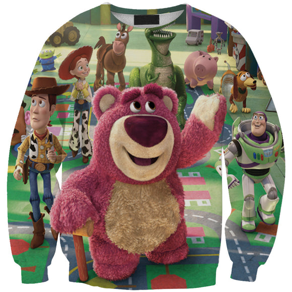 Women's Toy Story 3d Print Roll Neck Pullover Sweatshirt